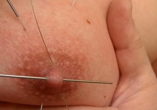 【閲覧注意】自分の乳房に針を打ちまくるマジキチ女のセルフ拷問動画・・・