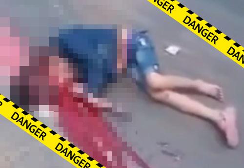 【グロ動画】車に頭だけ踏んづけられてしまった女の子、脳みそが飛び出して死亡・・※閲覧注意