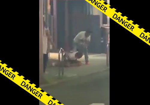【閲覧注意】名古屋の繁華街で起きた男性刺殺事件の現場映像がネット流出・・ナイフでめった刺ししててやべぇ・・・