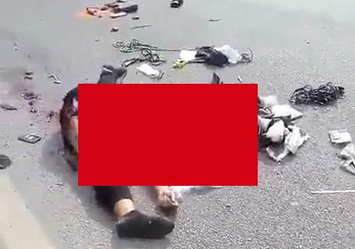 【閲覧注意】公道を100㎞以上の速度で走っていた女性ライダーの事故後の映像がとんでもない・・・