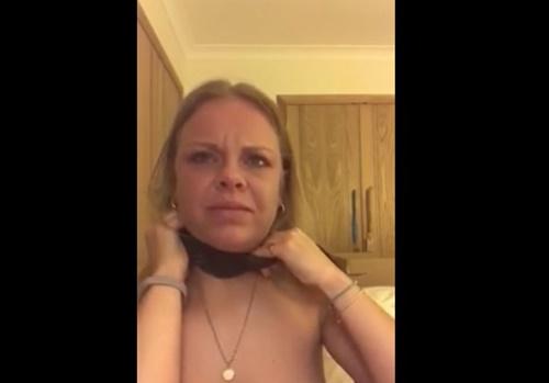 変態ドM女さん、セルフ首絞め動画をライブ配信してしまう
