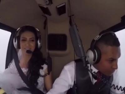 【衝撃映像】結婚式に向かう花嫁を乗せたヘリコプター、墜落する・・・