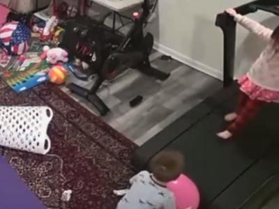 【閲覧注意】幼女と息子をルームランナーの部屋で2人きりにした結果・・・(動画あり)