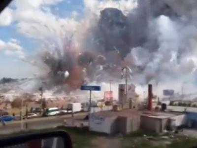 【衝撃映像】花火工場が引火し爆発事故が発生→ その様子がすごすぎると話題