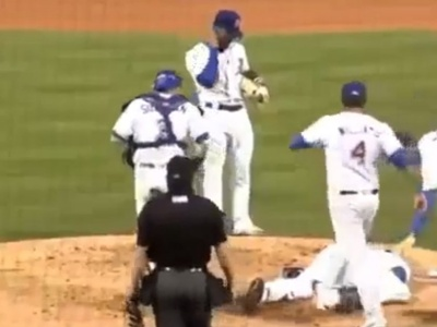 【衝撃映像】プロ野球の試合で「こうなったらヤバい」という事がついに起こってしまう