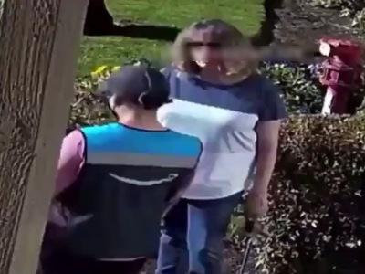 【驚愕】Amazon配達員女さん、舐めた態度の客にブチ切れしてしまう(動画あり)