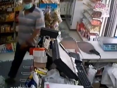 【閲覧注意】若い女の子ワンオペのコンビニにサイコパス客が入店した結果・・・(動画あり)